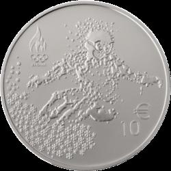 Эстония монета 10 евро Олимпийские игры в Пхёнчхане, реверс