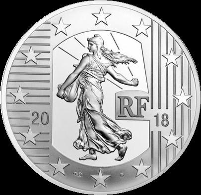 Франция монета 10 евро Серебряный экю, аверс