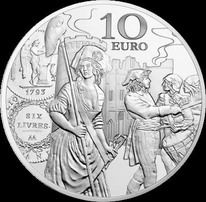 Франция монета 10 евро Серебряный экю, реверс
