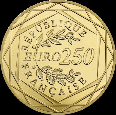 Франция монета 250 евро Марианна - символ Французской революции, аверс