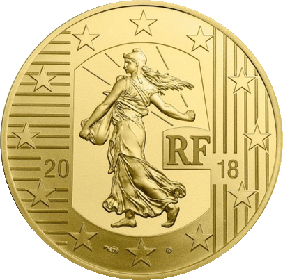 Франция монета 5 евро Серебряный экю, аверс
