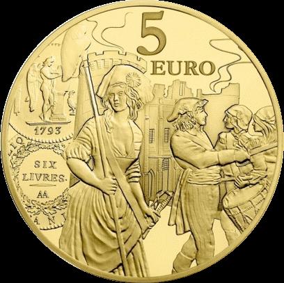 Франция монета 5 евро Серебряный экю, реверс