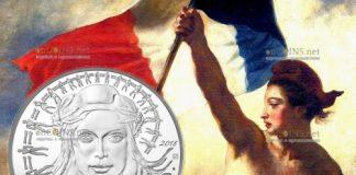 Франция монета Марианна - символ Французской революции