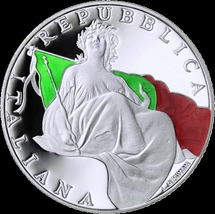 Италия монета 5 евро 70 лет Конституции Италии, аверс