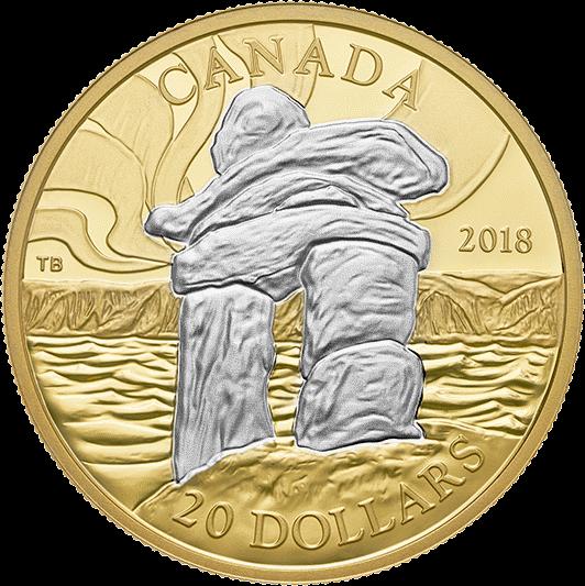Канада 20 долларов Инуксук, реверс