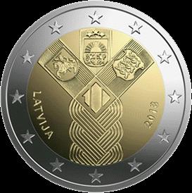 Латвия 2 евро Балтийская монета, реверс