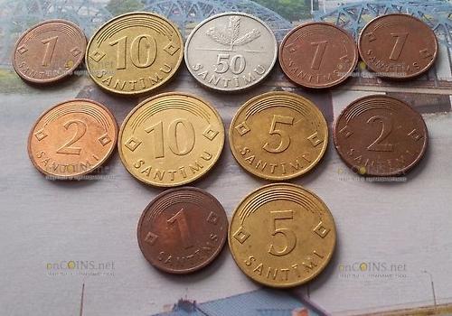 Латыши не спешат избавляться от латышских монет