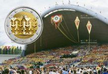 Литва монета 2 евро Литовский праздник песни и танца