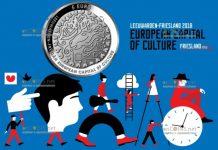 Нидерланды монета 5 евро Леуварден Культурная столица Европы