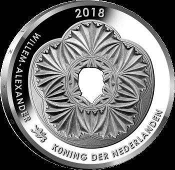Нидерланды монета 5 евро Леуварден Культурная столица Европы, аверс