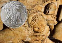 Ниуэ монета 2 доллара Лев Иудейский