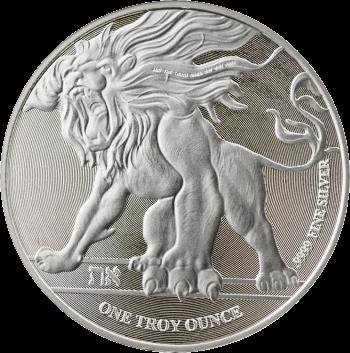 Ниуэ монета 2 доллара Лев Иудейский, реверс