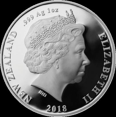 Новая Зеландия монет 5 долларов Бескрылая моа, аверс