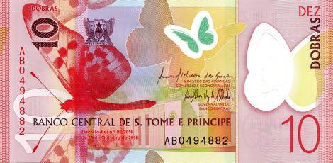 Сан-Томе и Принсипи банкнота 10 добра, лицевая сторона