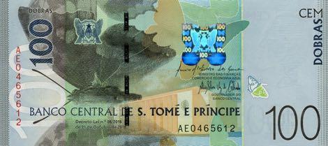 Сан-Томе и Принсипи банкнота 100 добра, лицевая сторона