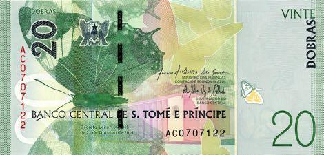 Сан-Томе и Принсипи банкнота 20 добра, лицевая сторона