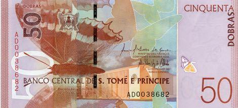 Сан-Томе и Принсипи банкнота 50 добра, лицевая сторона