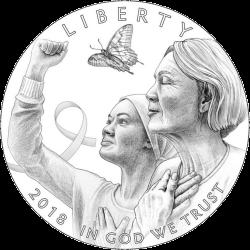 США монеты в поддержку Кампании против рака груди, аверс