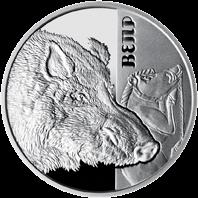 Украина монета 5 гривен Вепрь, реверс