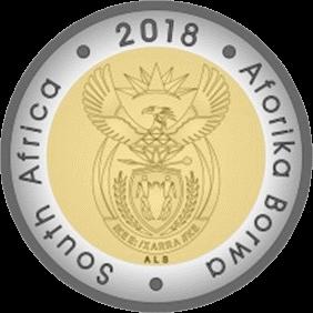 ЮАР монета 5 рандов Нельсон Мандела, аверс