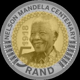 ЮАР монета 5 рандов Нельсон Мандела, реверс