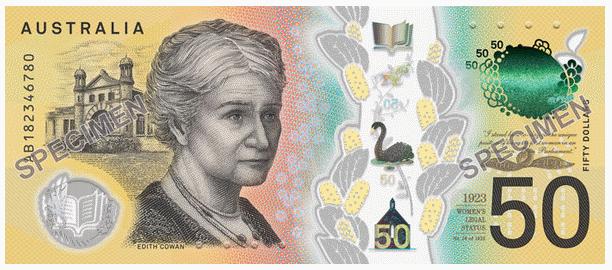Австралия банкнота 50 долларов 2018 года, оборотная сторона