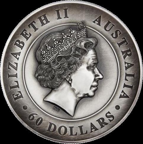 Австралия монета 60 долларов Австралийская коала, аверс