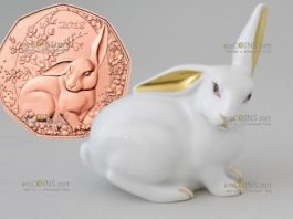 Австрия монета 5 евро Пасхальный кролик