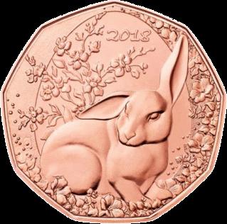 Австрия монета 5 евро Пасхальный кролик, реверс