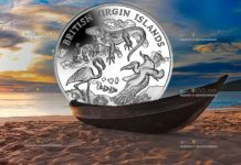 Британские Виргинские острова монета 10 долларов природа Виргинских островов