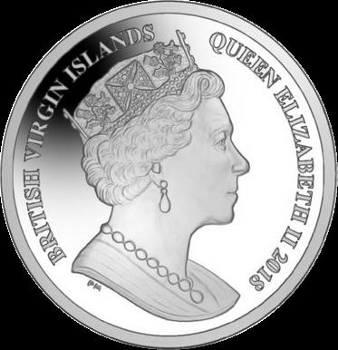 Британские Виргинские острова монета 10 долларов природа Виргинских островов, аверс