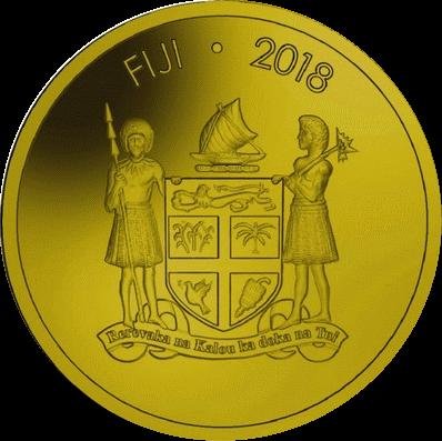Фиджи монета 1 доллар Лягушка древесная, аверс
