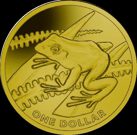 Фиджи монета 1 доллар Лягушка древесная, реверс