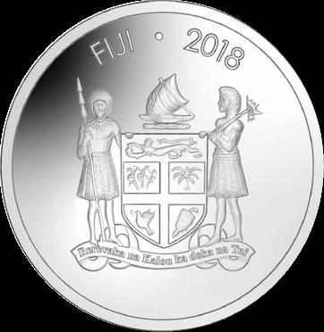 Фиджи монета 2 доллара Лягушка древесная, аверс