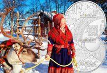 Финляндия монета 20 евро Саамская культура