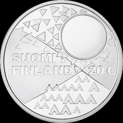 Финляндия монета 20 евро Саамская культура, аверс