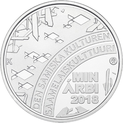 Финляндия монета 20 евро Саамская культура, реверс