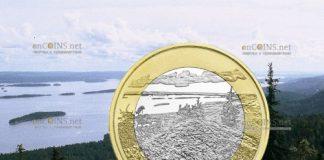 Финляндия монета 5 евро Национальный парк Коли