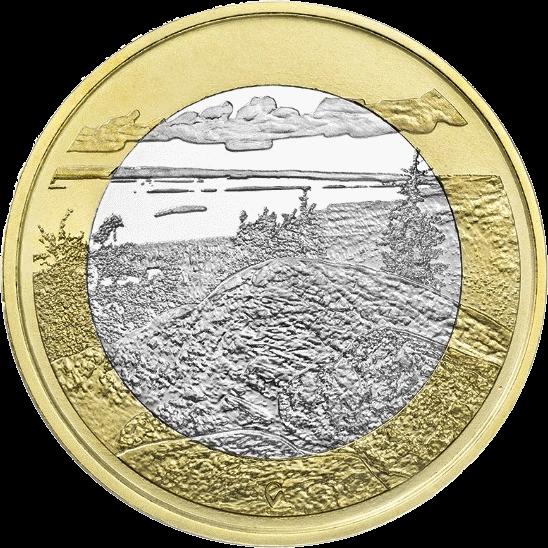 Финляндия монета 5 евро Национальный парк Коли, реверс