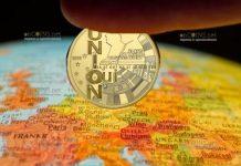 Франция монета 10 евро 25 лет Маастрихтскому договору