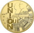 Франция монета 5 евро 25 лет Маастрихтскому договору, аверс