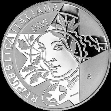 Италии монета 10 евро Барокко, аверс