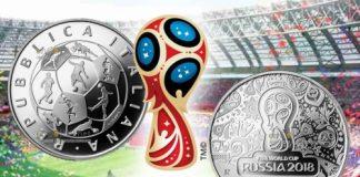 Италия монета 10 евро Чемпионат мира по футболу в России