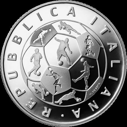 Италия монета 10 евро Чемпионат мира по футболу в России, аверс