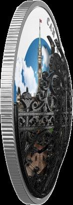 Канада 3-D монета 30 долларов Королевские ворота, 3-D