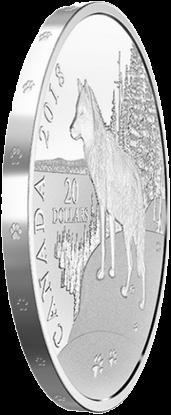 Канада монета 20 долларов Волк, гурт