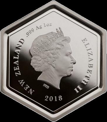 Новая Зеландия монета 1 доллар Мед манука, аверс