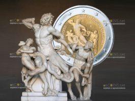 Ватикан монета 2 евро Европейский год культурного наследия