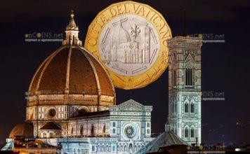 Ватикан монета 5 евро 600 лет куполу Санта-Мария-дель-Фьоре