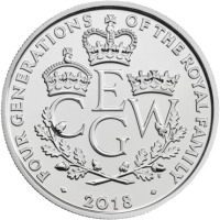 Великобритания монет четыре поколения королевской семьи, серебро, реверс